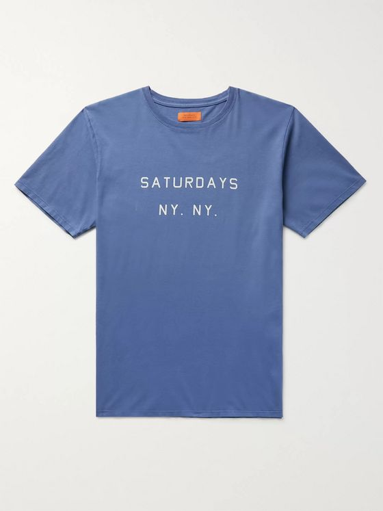 Saturdays NYC Logo-Print Cotton-Jersey T-Shirt
