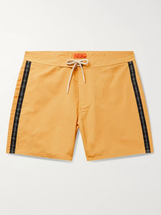 Saturdays NYC Mid-Length Logo-Appliquéd Swim Shorts