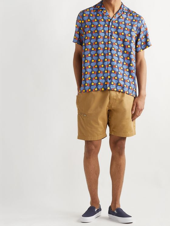 Saturdays NYC Camp-Collar Printed Lyocell-Twill Shirt