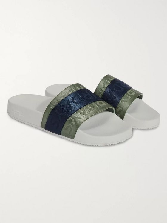Saturdays NYC Soho Logo-Jacquard Nylon and Rubber Slides