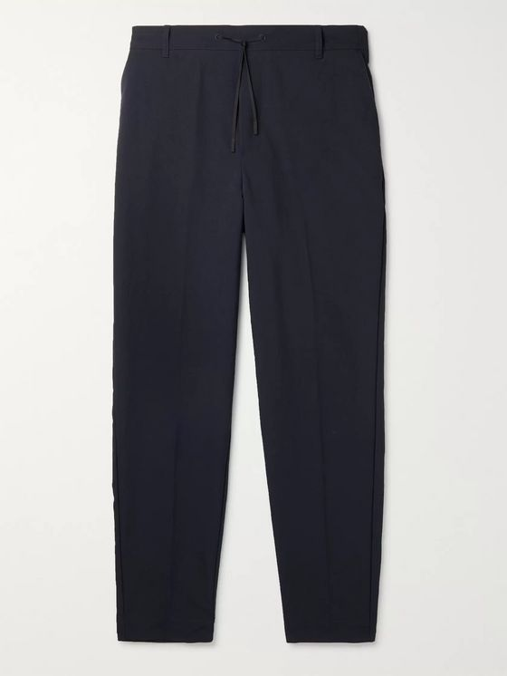 Maison Kitsuné Tapered Nylon Drawstring Trousers