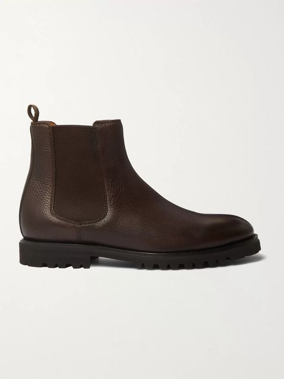 Brunello Cucinelli Full-Grain Leather Chelsea Boots