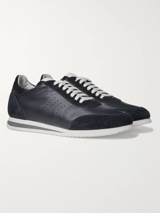 Brunello Cucinelli Leather and Suede Sneakers