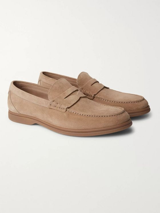 Brunello Cucinelli Suede Penny Loafers