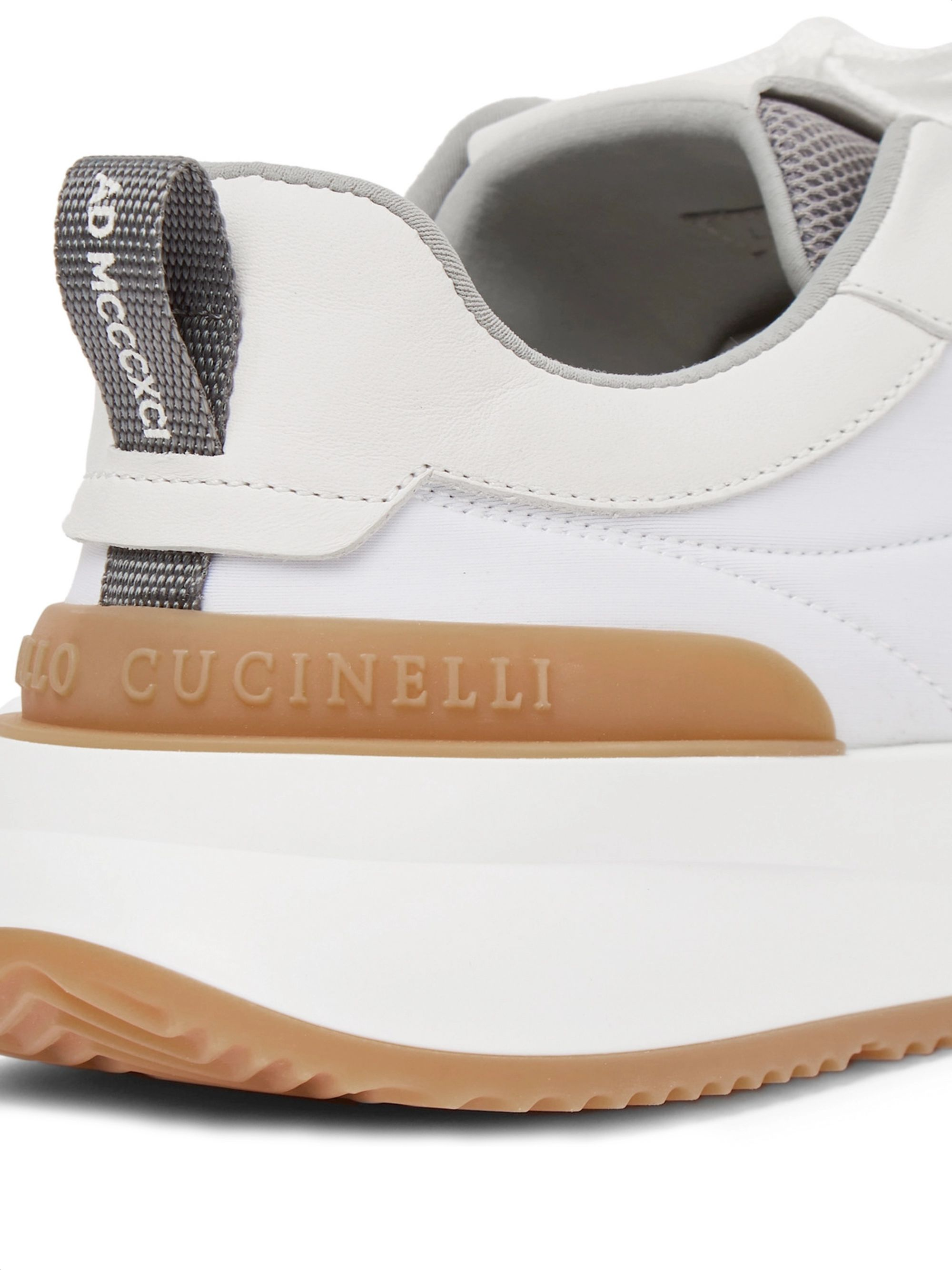 Brunello Cucinelli Leather-Trimmed Suede and Neoprene Sneakers