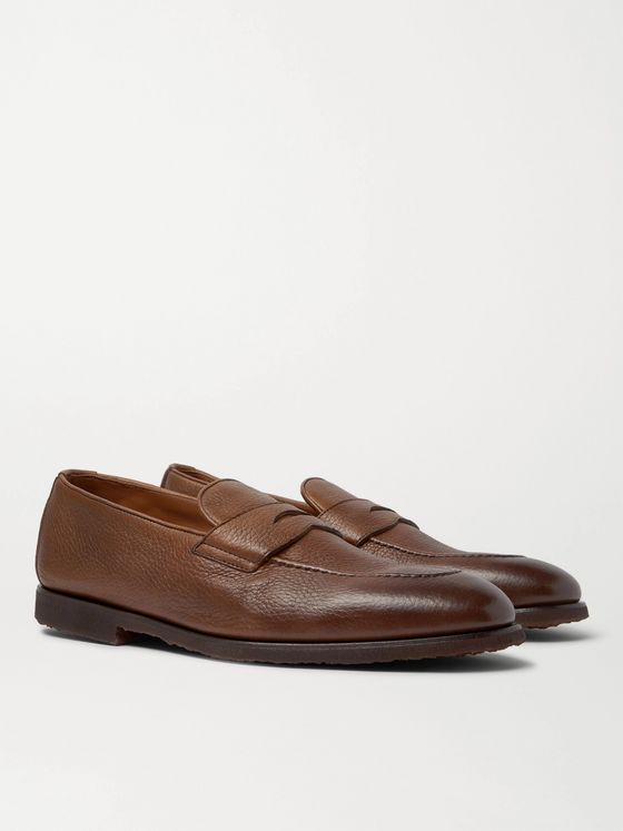 BRUNELLO CUCINELLI Full-Grain Leather Penny Loafers