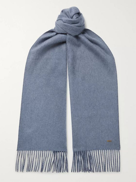 Dunhill Fringed Cashmere Scarf