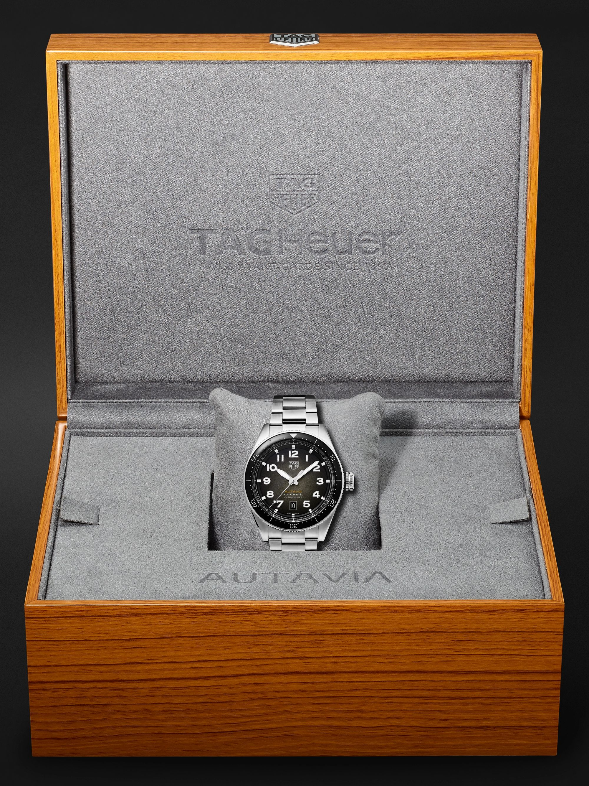TAG Heuer Autavia Automatic Chronometer 42mm Stainless Steel Watch, Ref. No. WBE5114.EB0173