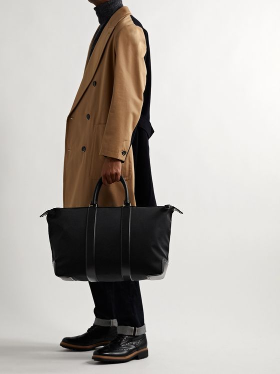 Mulberry Leather-Trimmed Nylon-Twill Holdall