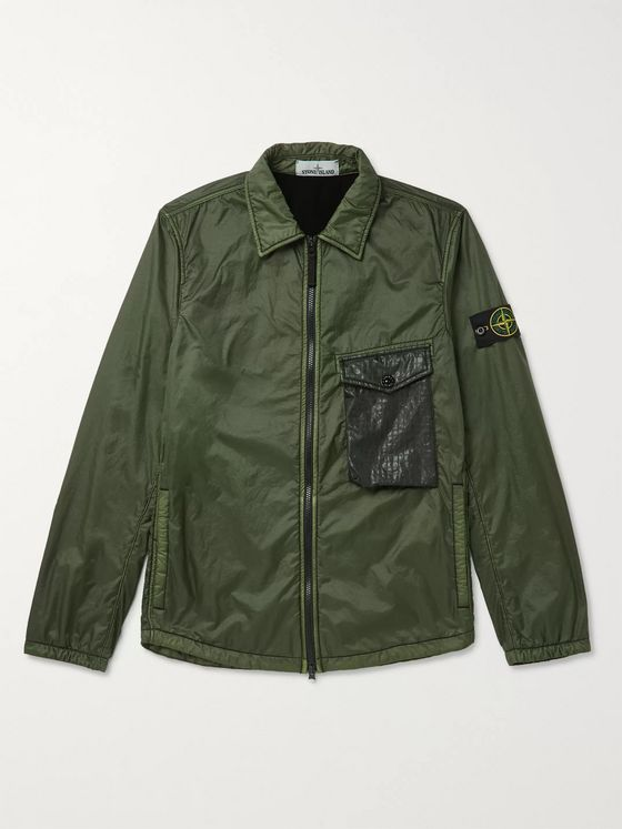 Stone Island Lamy Flock Slim-Fit Ripstop-Trimmed Shell Jacket