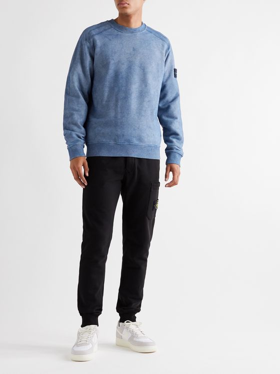 Stone Island Tie-Dyed Fleece-Back Cotton-Jersey Sweatshirt