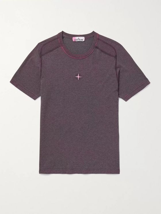 Stone Island Slim-Fit Logo-Embroidered Cotton-Jersey T-Shirt