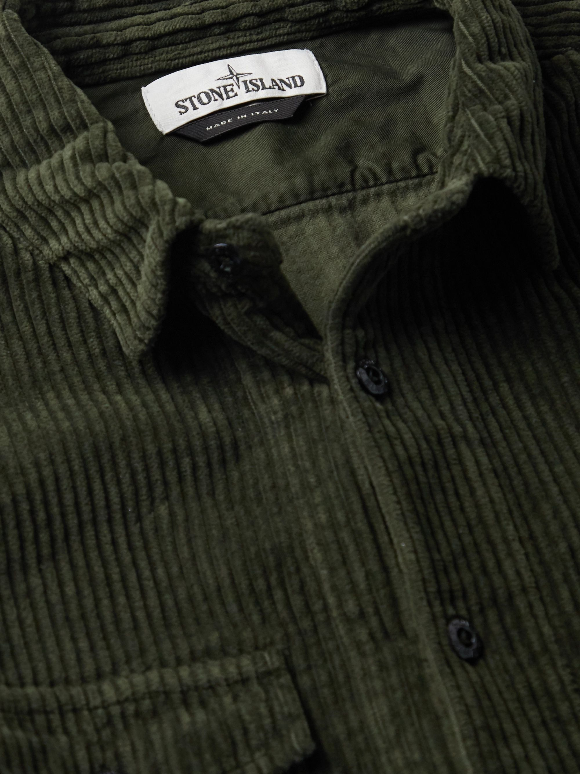 Army Green Cotton-corduroy Shirt | Stone Island