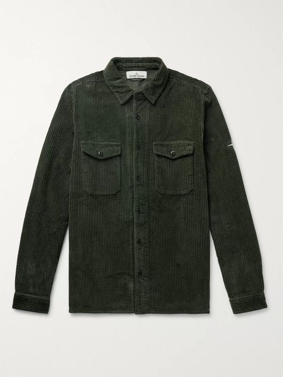 Stone Island Cotton-Corduroy Shirt