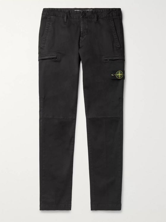 Stone Island Tapered Cotton-Blend Cargo Trousers