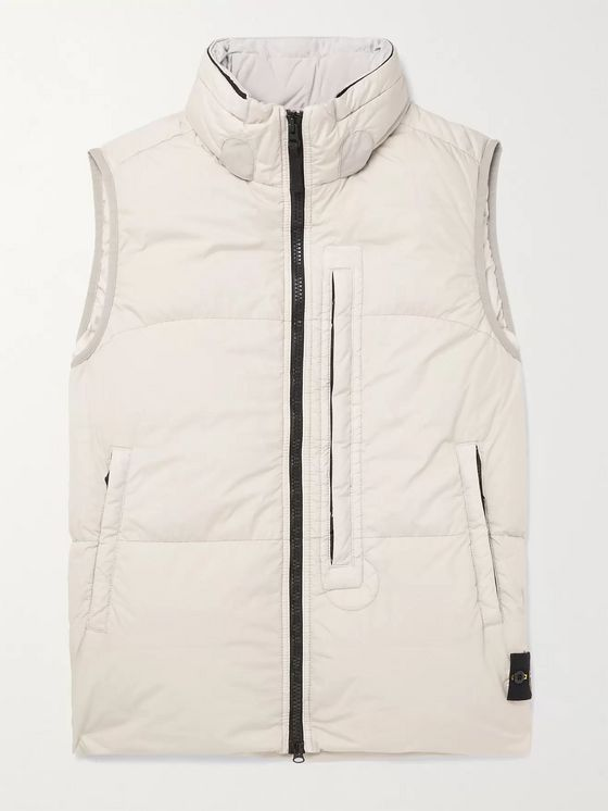 Stone Island Garment-Dyed Quilted Nylon Down Gilet