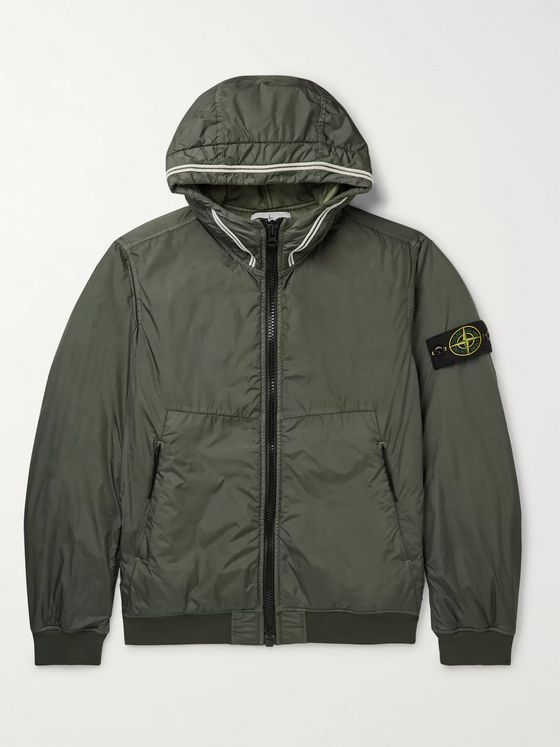 Stone Island Garment-Dyed Nylon Primaloft Hooded Jacket