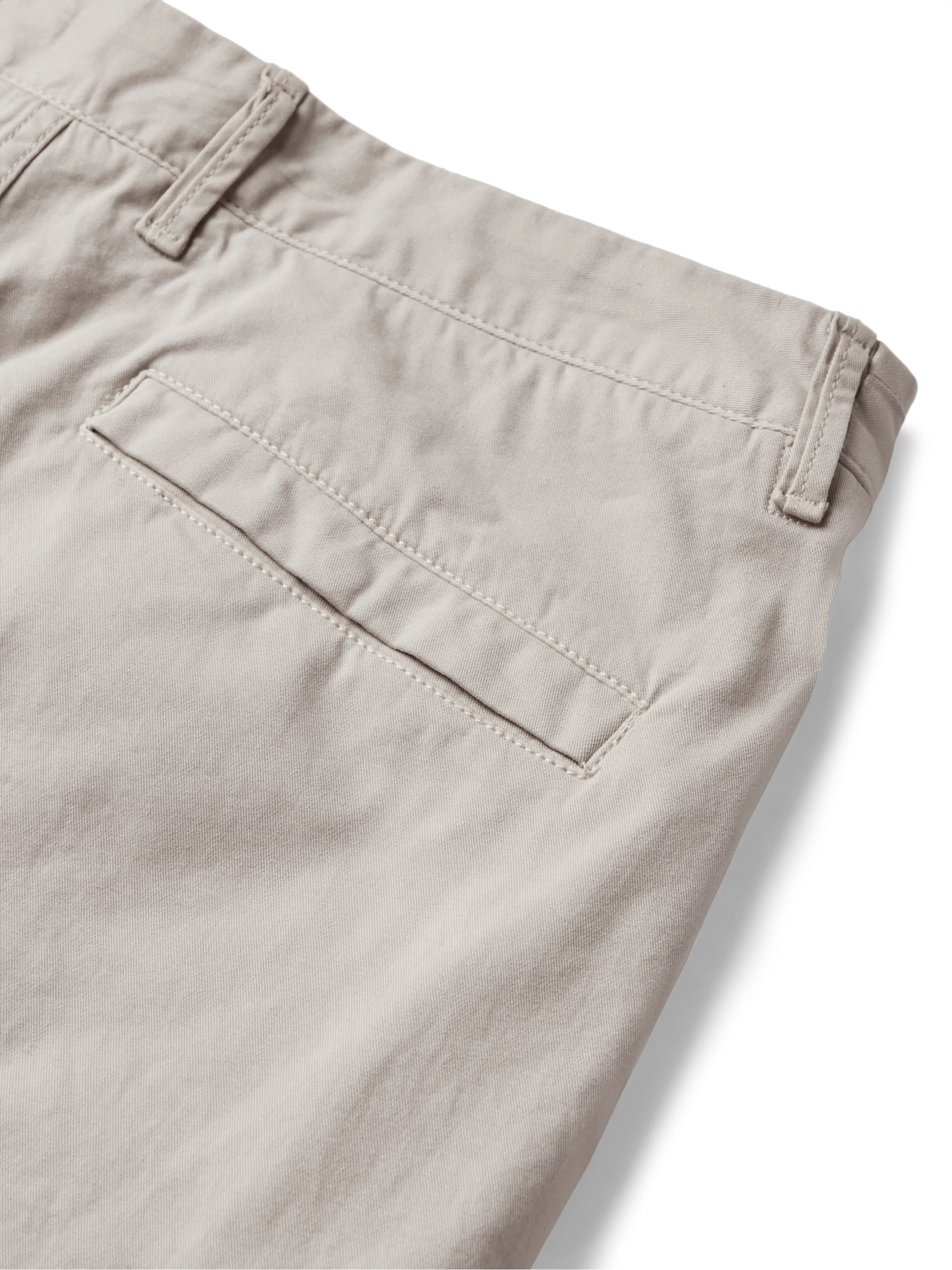Beige Tapered Brushed Stretch-cotton Twill Cargo Trousers | Stone Island