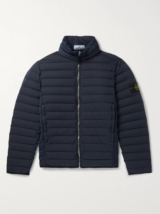 Stone Island Packable Logo-Appliquéd Quilted Shell Down Jacket