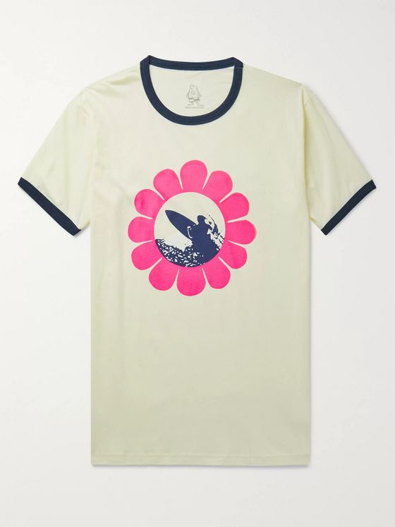 Birdwell Printed Cotton-Jersey T-Shirt