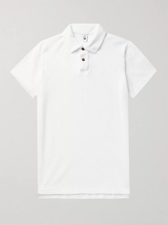 Birdwell Cotton-Blend Terry Polo Shirt