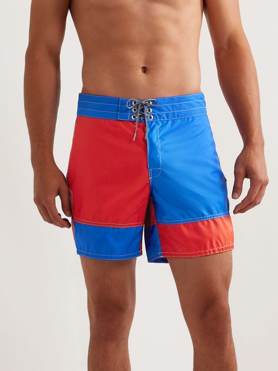 Birdwell Mid-Length Colour-Block Swim Shorts