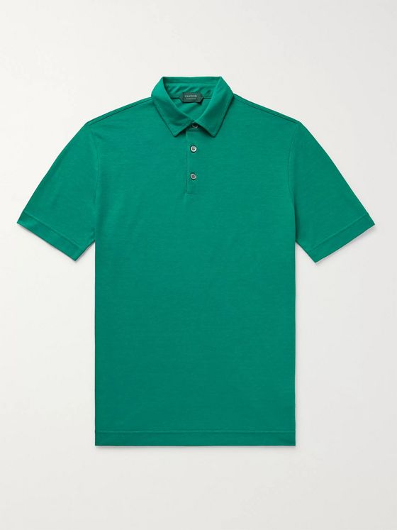 Incotex Ice Cotton-Jersey Polo Shirt