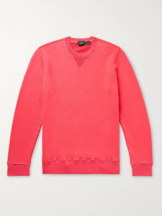 Incotex Loopback Cotton-Jersey Sweatshirt