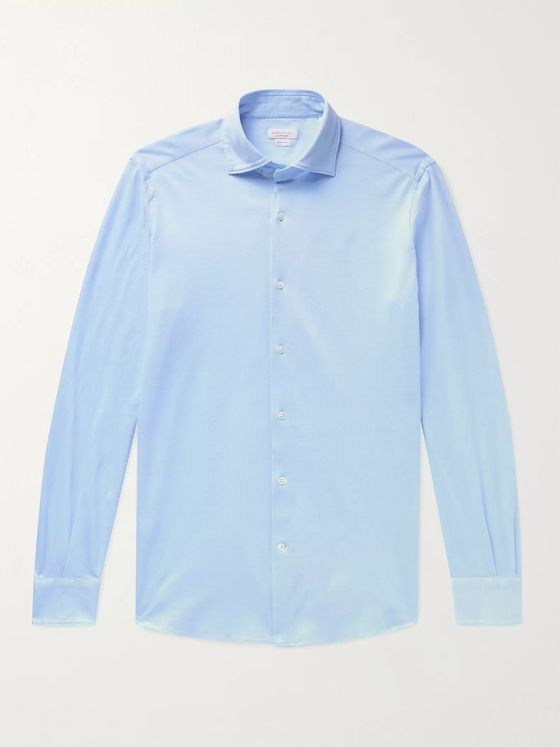 Incotex Slim-Fit Cotton-Piqué Shirt