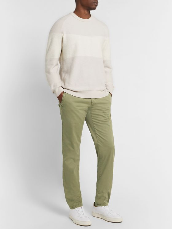 Incotex Slim-Fit Stretch-Cotton Twill Trousers