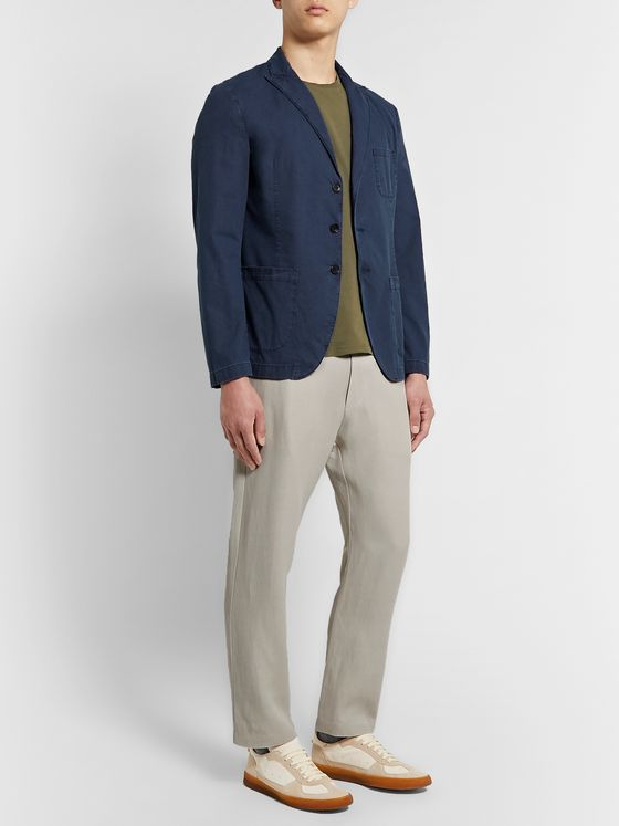 Incotex Unstructured Stretch-Cotton Blazer