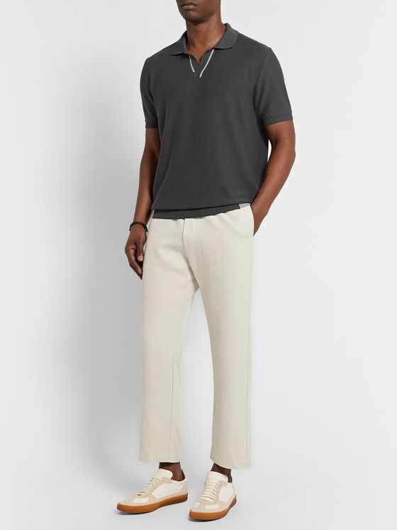 Incotex Contrast-Tipped Cotton Polo Shirt