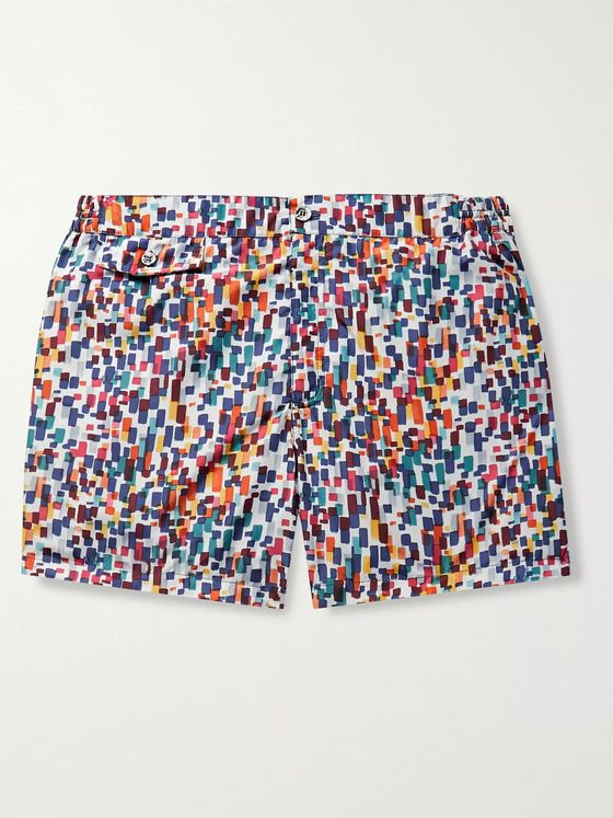 Incotex Short-Length Printed Shell Swim Shorts