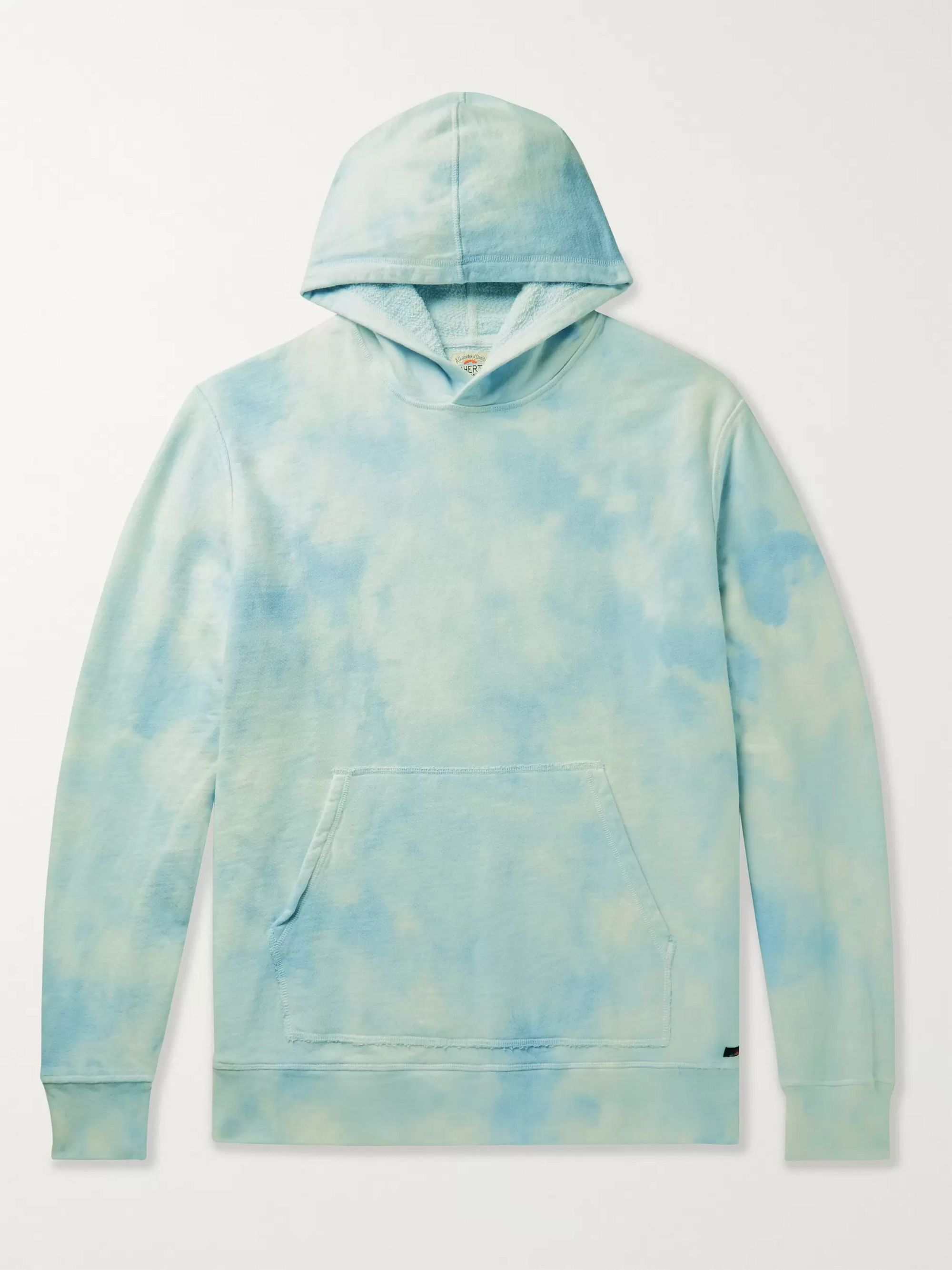 Faherty Tie-Dyed Loopback Cotton-Jersey Hoodie