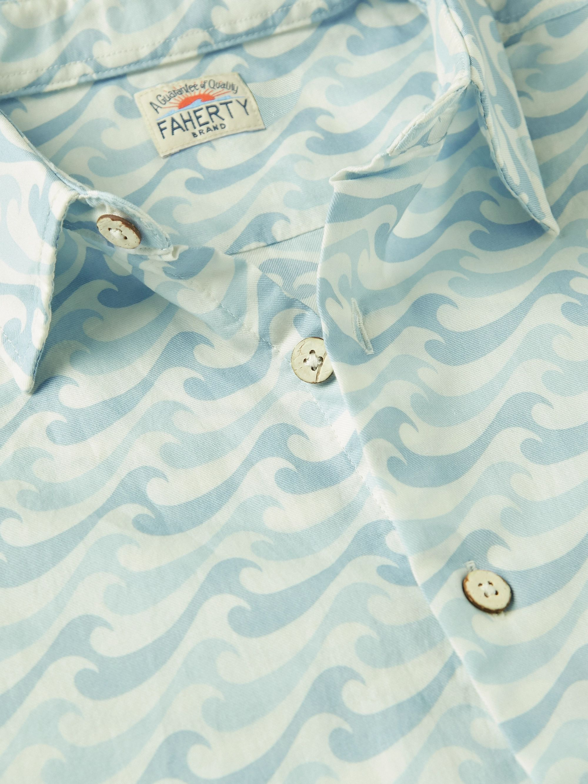 Faherty Playa Printed Cotton Shirt