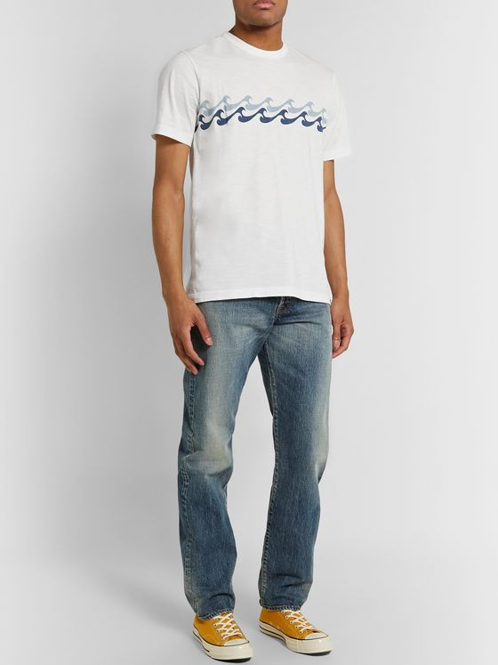 Faherty Endless Peaks Printed Organic Cotton-Jersey T-Shirt