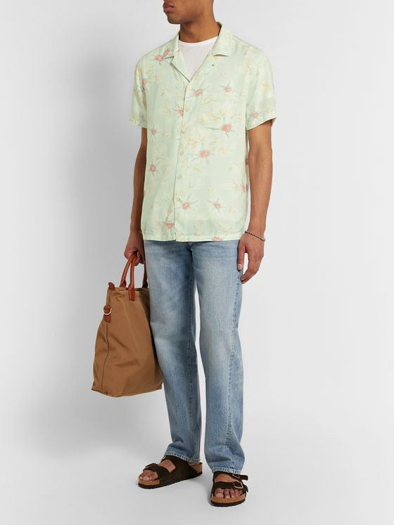 Faherty Kona Camp-Collar Printed Voile Shirt