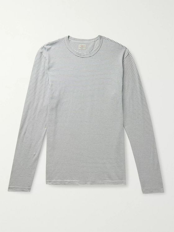 Faherty Isle Striped Cotton-Jersey T-Shirt