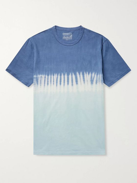 Faherty Tie-Dyed Organic Cotton-Jersey T-Shirt