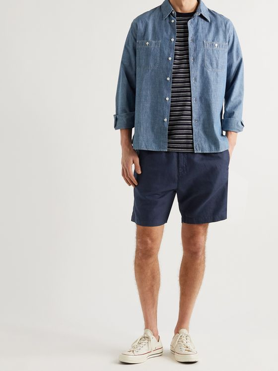 MR P. Linen and Cotton-Blend Drawstring Shorts