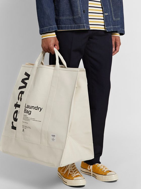 retaW Printed Cotton-Canvas Laundry Bag