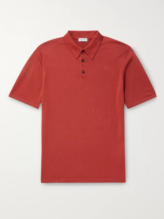 Sunspel Slim-Fit Sea Island Cotton Polo Shirt
