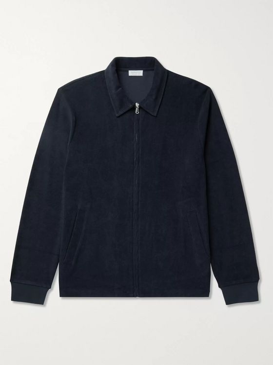Sunspel Cotton-Terry Blouson Jacket
