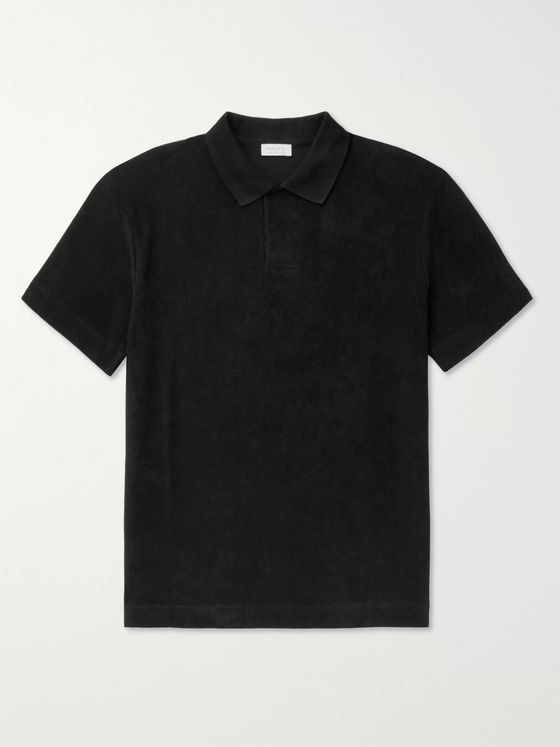 Sunspel Cotton-Terry Polo Shirt