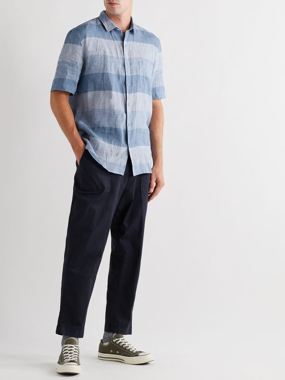 Sunspel Striped Linen Shirt
