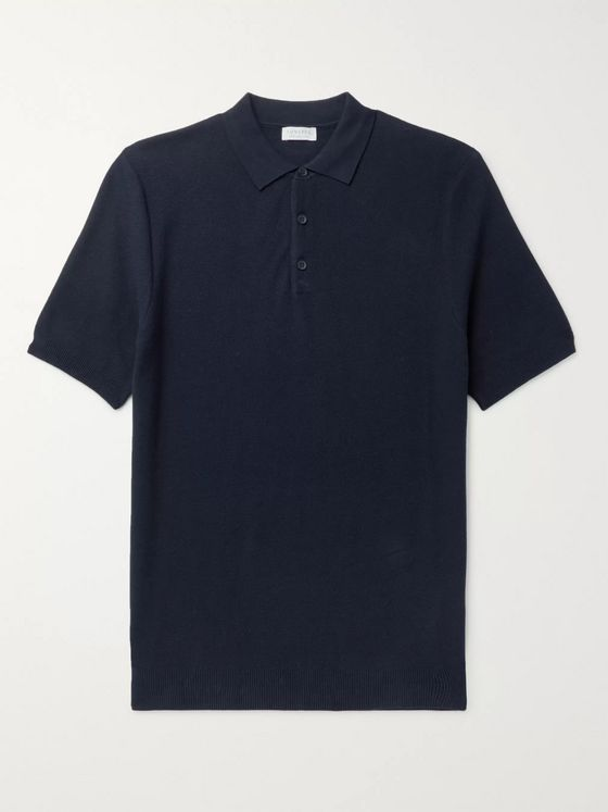 Sunspel Slim-Fit Cotton-Piqué Polo Shirt