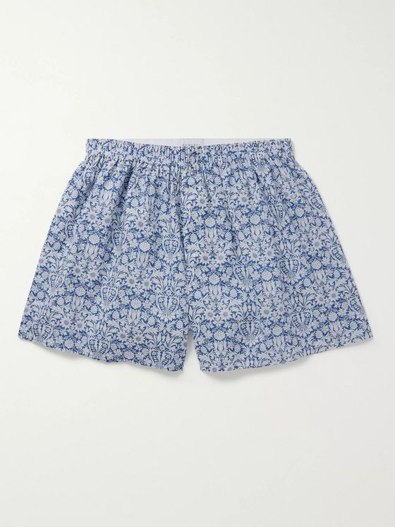 Sunspel Floral-Print Cotton Boxer Shorts