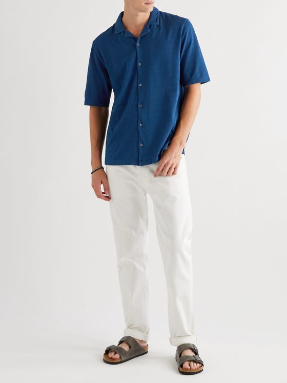 Sunspel Camp-Collar Cotton-Piqué Shirt