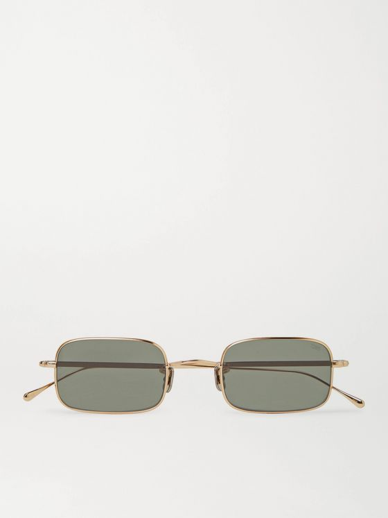 EYEVAN 7285 Rectangle-Frame Gold-Tone Titanium Sunglasses