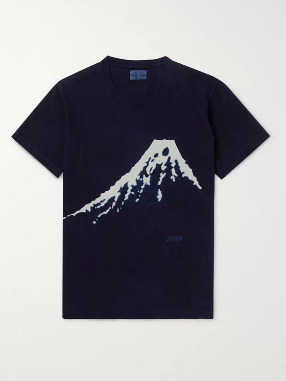 Blue Blue Japan Bassen Indigo-Dyed Cotton-Jersey T-Shirt